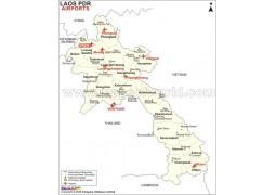 Laos Airports Map