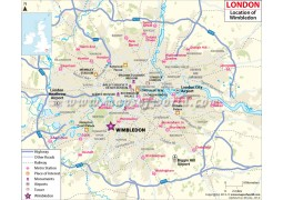 Wimbledon Location Map