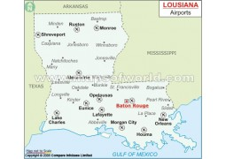 Louisiana Airports Map