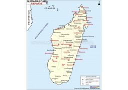 Madagascar Airports Map