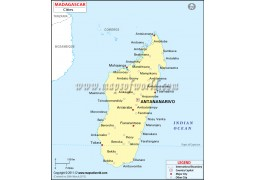 Madagascar Map with Cities