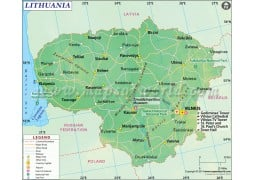 Lithuania Map