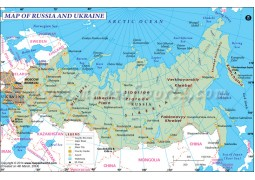 Russia and Ukraine Map