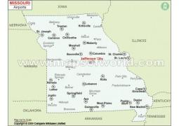 Missouri Airports Map