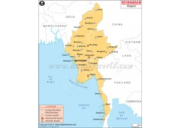 Myanmar Airports Map