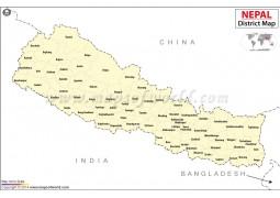 Nepal District Map