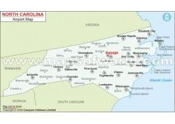 North Carolina Airports Map