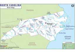 North Carolina River Map