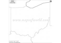 Ohio Outline Map