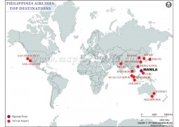 Philippine Airlines Top Destinations Map