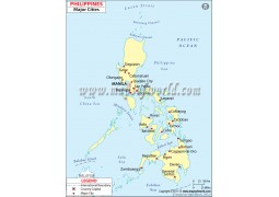 Map of Philippines with Cities