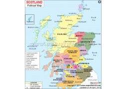Political Map of Scotland