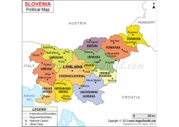 Political Map of Slovenia