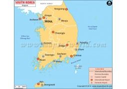 South Korea Airports Map