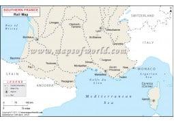 Southern France Rail Map