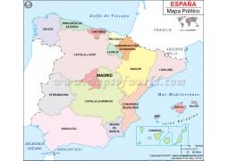 Mapa de España (Spain Map in Spanish)