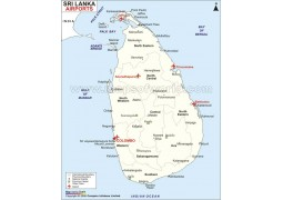 Sri Lanka Airports Map