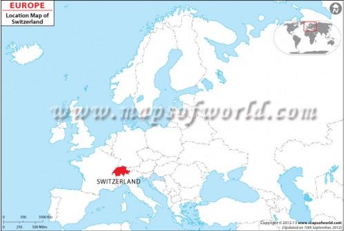 Switzerland Location on World Map