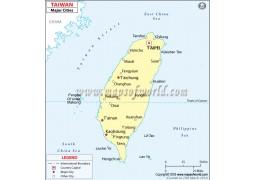 Taiwan Cities Map