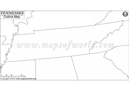 Blank Map of Tennessee