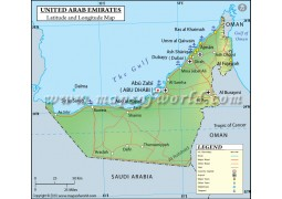 UAE Map With Latitude And Longitude