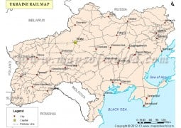 Ukraine Rail Map