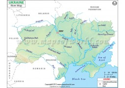Ukraine River Map