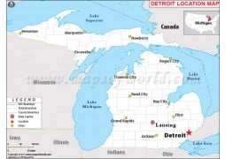 Detroit Location Map