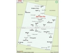 Utah Airports Map