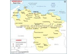 Venezuela Cities Map
