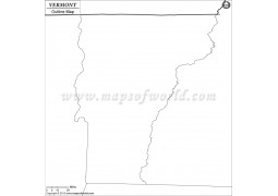 Blank Map of Vermont