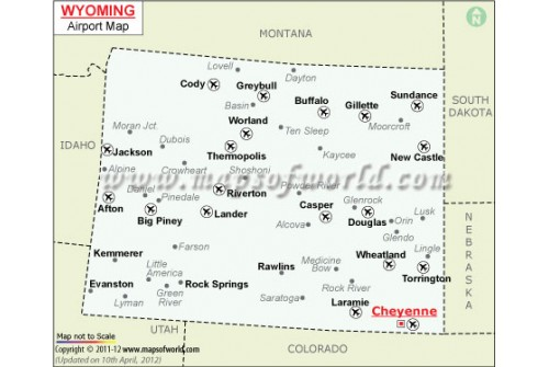 Wyoming Airports Map