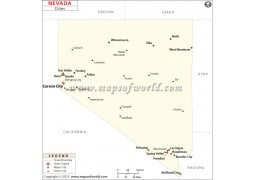 Map of Nevada Cities