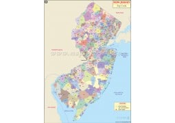 New Jersey Zip Code Map