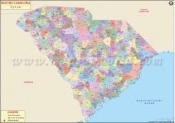 South Carolina Zip Code Map