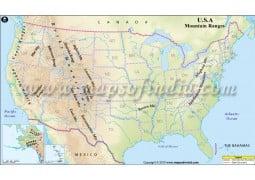 USA Mountain Ranges Map