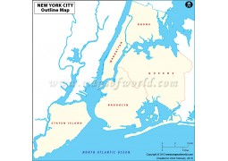 Blank Map of New York