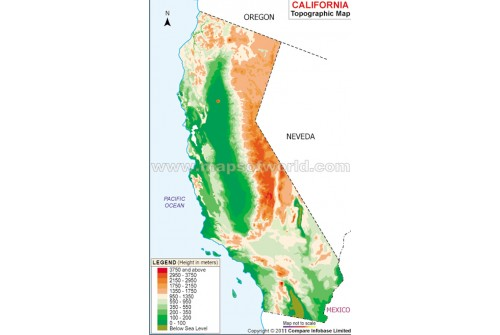 California Topo Map