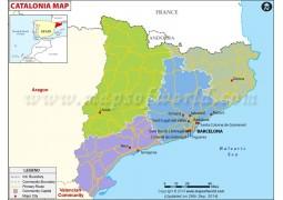 Cataluna Political Map