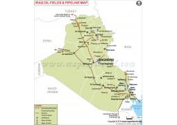 Iraq oil Pipelines Map