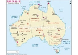 Minerals and Ores Australia Map