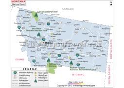 Montana National Parks Map
