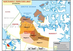Northwest Territories Map of Canada