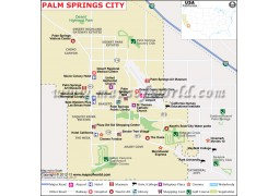 Palm Springs City Map