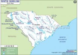 South Carolina River Map
