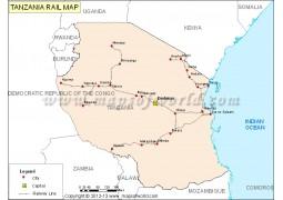 Tanzania Rail Map