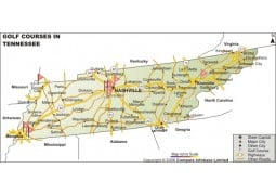 Tennessee Golf Courses Map
