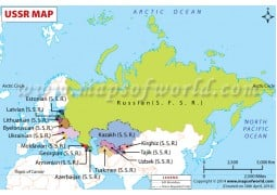 USSR Countries Map
