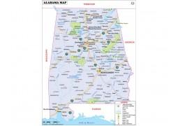 Large Map of Alabama