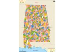 Alabama Zip Code Map